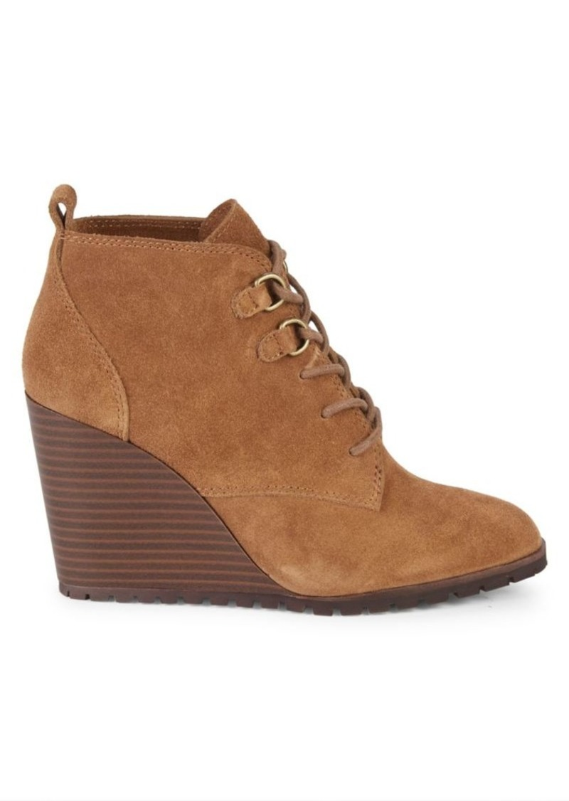 Splendid Paris Suede Wedge Ankle Boots