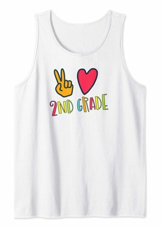 Splendid Peace Love and Second First Day Back to School Tank Top