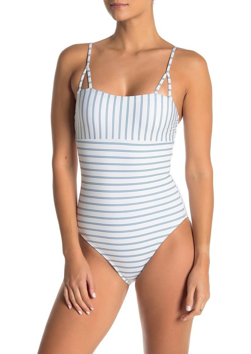 Splendid Pinstripe One-Piece Swimsuit