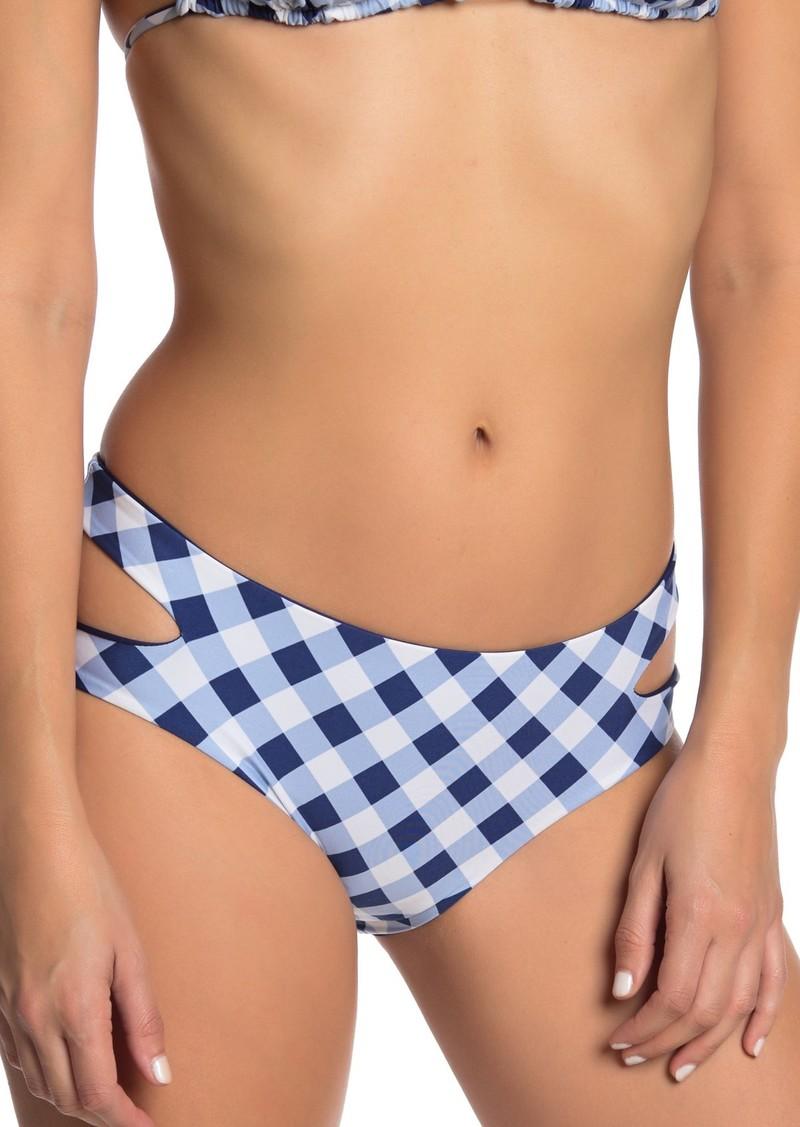 Splendid Plaid Keyhole Bikini Bottoms