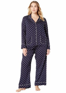 Splendid Plus Size Woven Notch Collar PJ Set