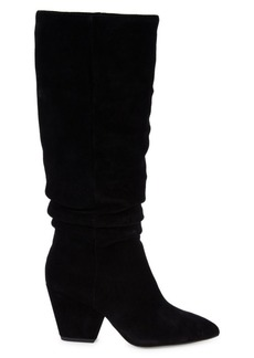Splendid Point-Toe Suede Knee-High Boots