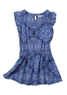 Splendid Printed Flutter Sleeve Dress (Toddler Girls)