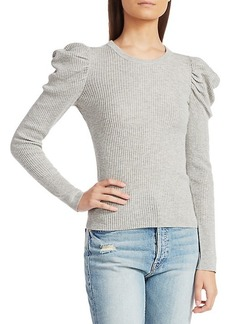Splendid Puff-Sleeve Sweater