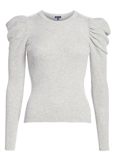 Splendid Puff-Sleeve Sweater