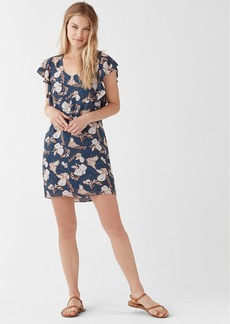 Splendid Ramo Floral Print Ruffle Dress