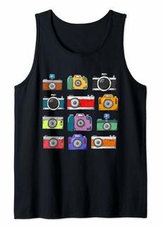Splendid Retro Camera Shirt Photographer Vintage Cute Cartoon Gift Tank Top