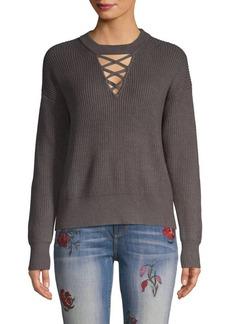 Splendid Ribbed Crisscross Sweater