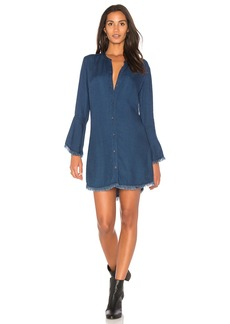 Splendid Ruffle Shirt Dress