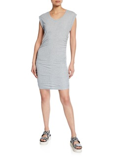 Splendid Scoop-Neck Ruched-Side Min Dress