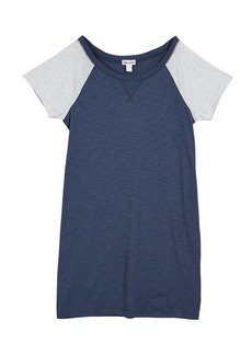 Splendid Slub Jersey Two-Tone Raglan Sleeve Shirt Dress  Size 7-14