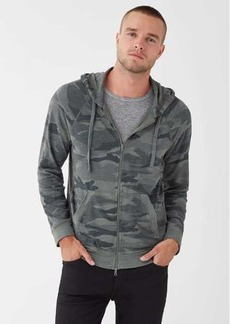 Splendid Sonoma French Terry Camo Zip Up Hoodie