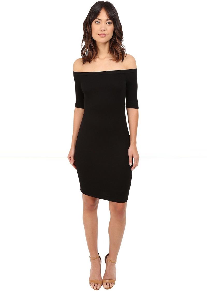 Splendid 2x1 Off the Shoulder Rib Dress