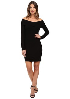 Splendid 2x1 Rib Dress Off the Shoulder