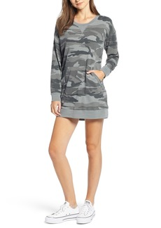 Splendid Active Camo Sweatshirt Dress