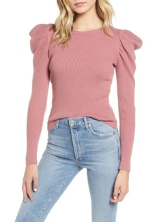 Splendid Allstone Puff Sleeve Sweater