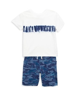 Splendid Baby's, Toddler's, Little Boy's & Boy's Two Piece Print Tee & Camo Shorts Set