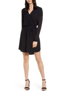 Splendid Balsa Long Sleeve Faux Wrap Dress