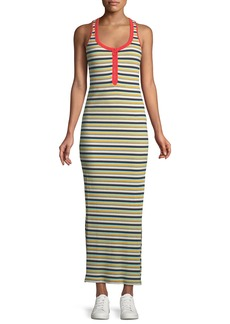 Banda Striped Sleeveless Maxi Dress