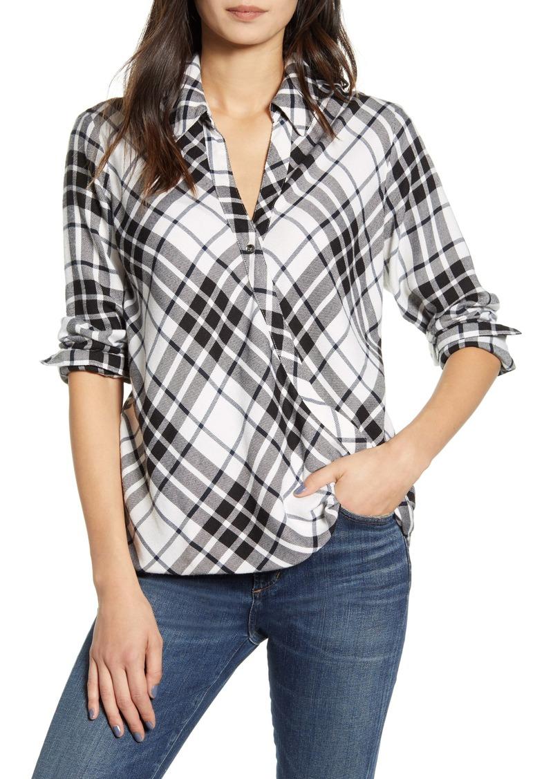 Splendid Beckett Plaid Asymmetrical Shirt