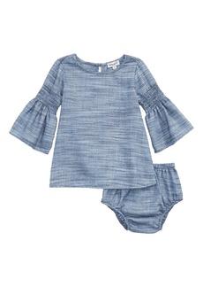 Splendid Bell Sleeve Dress (Baby Girls)