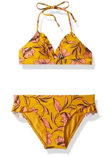 Splendid Girls' Big Golden Girlie Triangle Bra Set Swimsuit