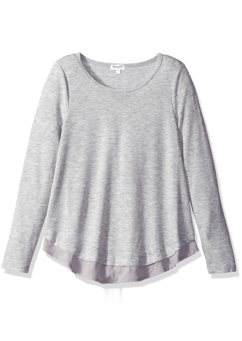 Splendid Big Girls' Loose Knit with Chiffon Top