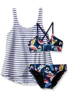 Splendid Big Girls' Tropical Traveler Double Dip Tankini Swimwear Set