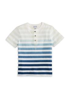 Splendid Boys' Dip Dye Striped Henley - Little Kid