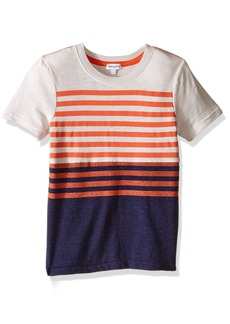 Splendid Little Boys' Short Sleeve Classic Stripe Tee Off White