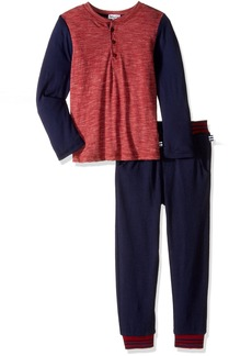 Splendid Boys' Little Boys' Toddler Long Sleeve Triblend Henley With Pant Set