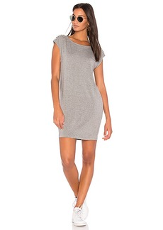 Splendid Braided Shoulder Dress in Gray. - size L (also in M,S,XS)