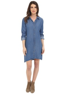 Splendid Button Front Chambray Shirtdress