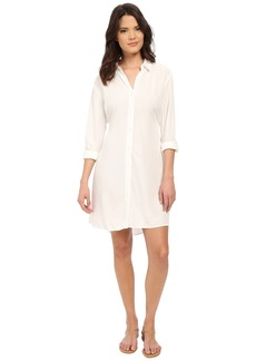 Splendid Button Front Shirtdress