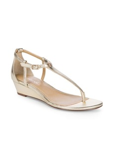 Splendid Byron Metallic Wedge Sandals