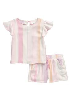Splendid Cali Stripe Flutter Sleeve Top & Shorts Set (Baby)