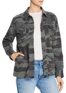 Splendid Camo Cargo Shirt Jacket