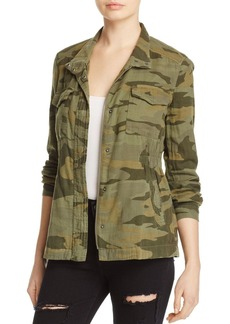 Splendid Camo Print Military Jacket