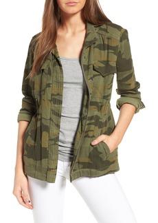 Splendid Camo Print Military Jacket