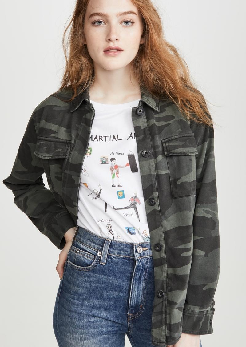 Splendid Camo Shirt Jacket