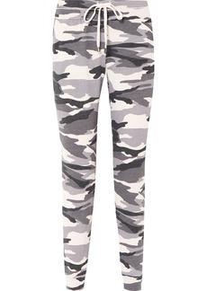 Camouflage-print stretch-jersey track pants