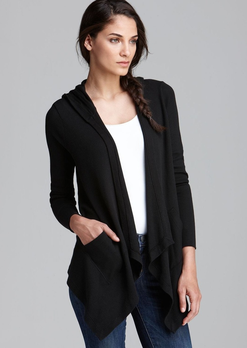 Splendid Cardigan - Hooded Drapey Front Thermal
