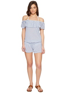 Splendid Chambray All Day Off the Shoulder Romper Cover-Up