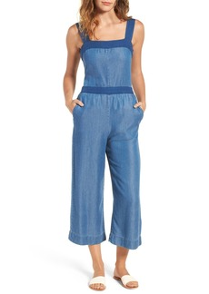 Splendid Chambray Culotte Jumpsuit