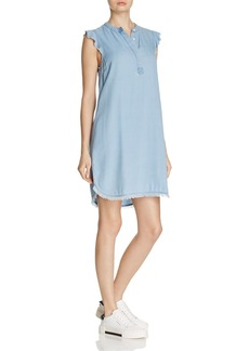 Splendid Chambray Henley Shirt Dress