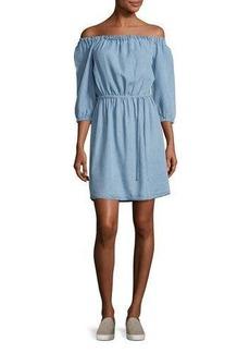 Splendid Chambray Off-the-Shoulder Dress