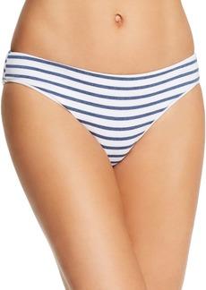 Splendid Chambray Stripe Retro Bikini Bottom