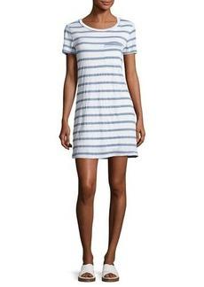 Splendid Cliffbrook Striped Pocket T-Shirt Dress