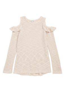 Splendid Cold Shoulder Sparkle Sweater (Big Girls)