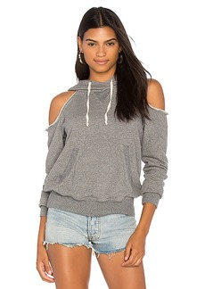 Splendid Cold Shoulder Sweatshirt in Gray. - size L (also in M,S,XS)